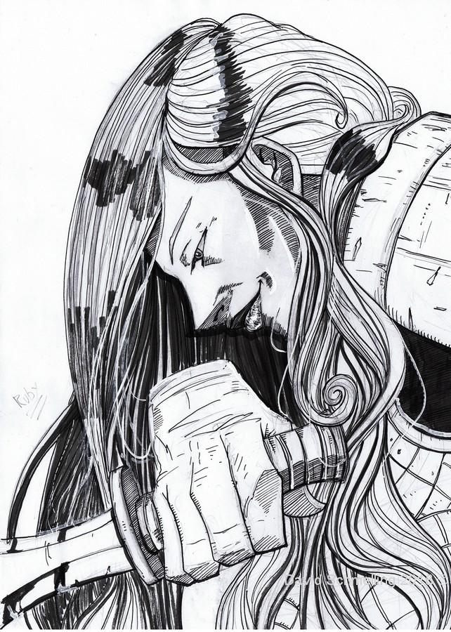 Ruby, the Assassin Brotherhood leader (inks)