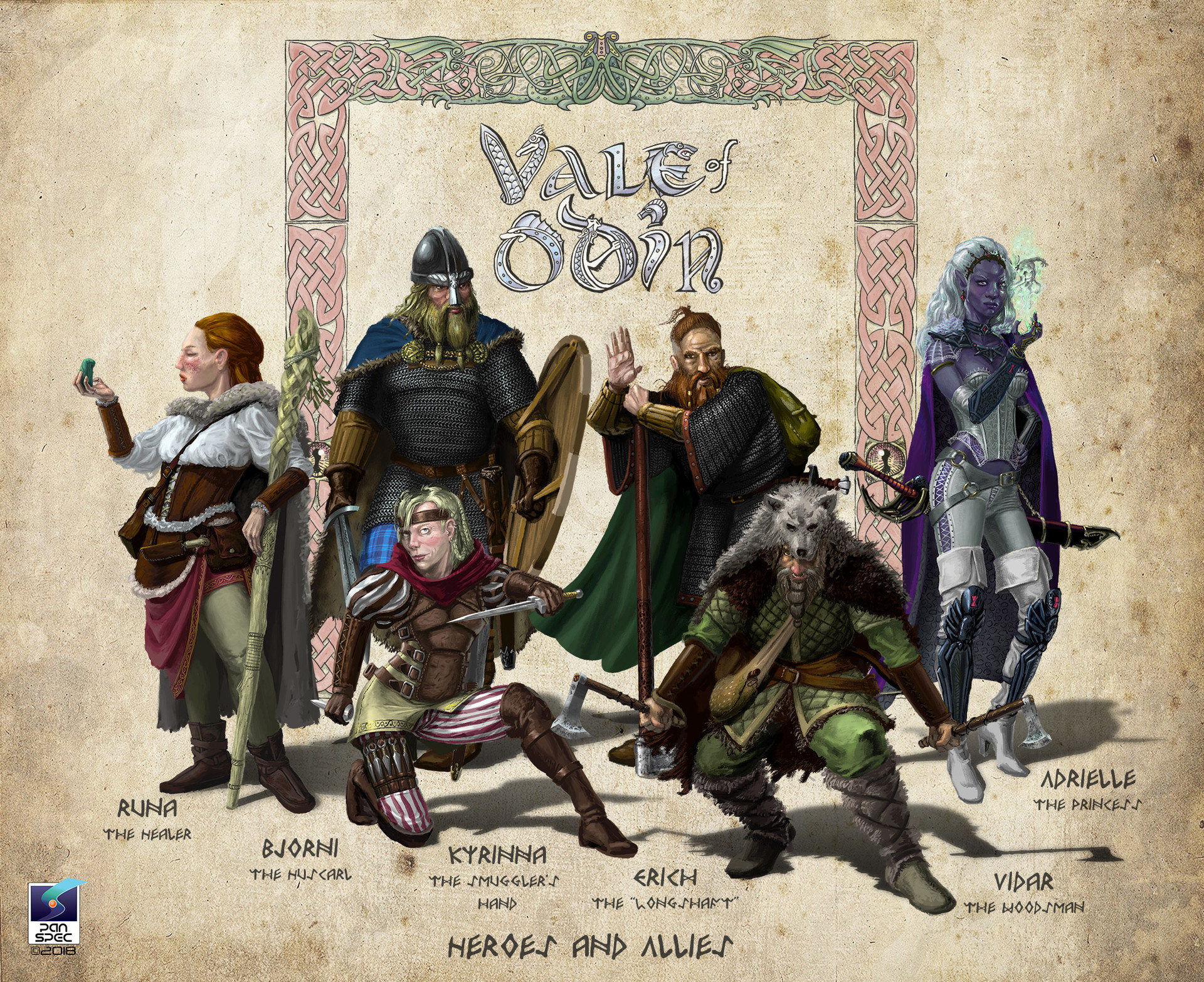 Heroes & Allies Character Line Up.