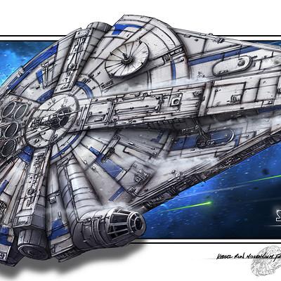 Shane molina solo falcon print 11x17 x