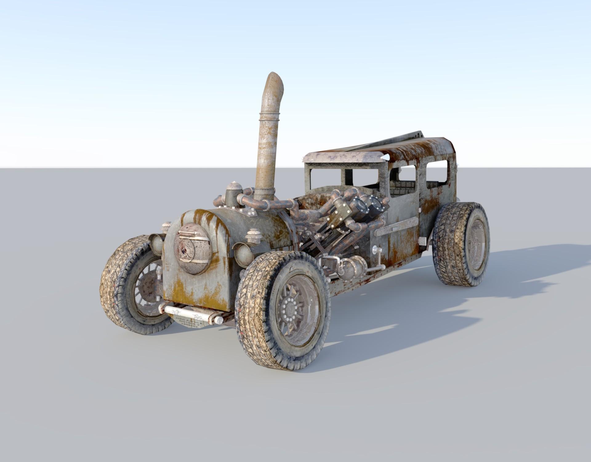 Artstation Steampunk Vehicle 良朗 秀徳