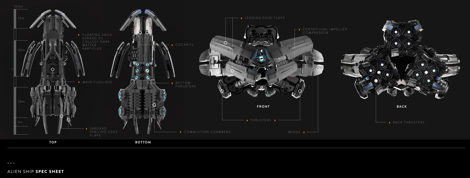 Artstation Alien Spaceship Design Vincenzo Barkasy