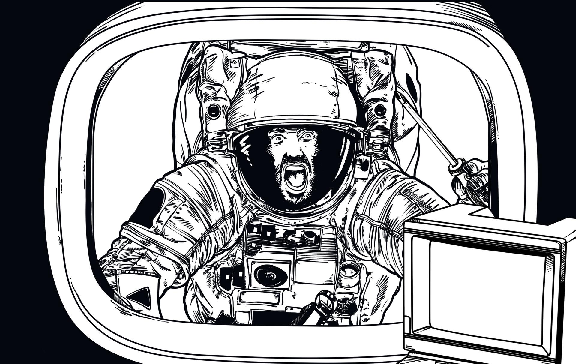 Andy veilski 06 astronaut lineart