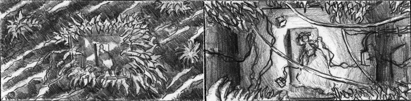 Early storyboard sketch.