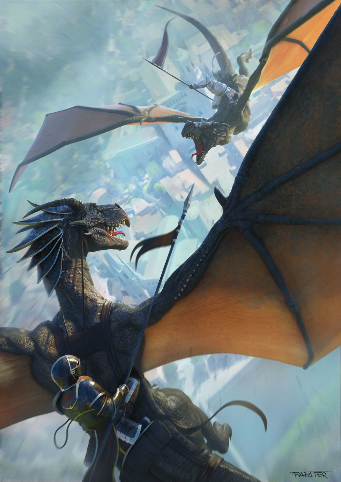 Dragon battle - Girocòmic poster