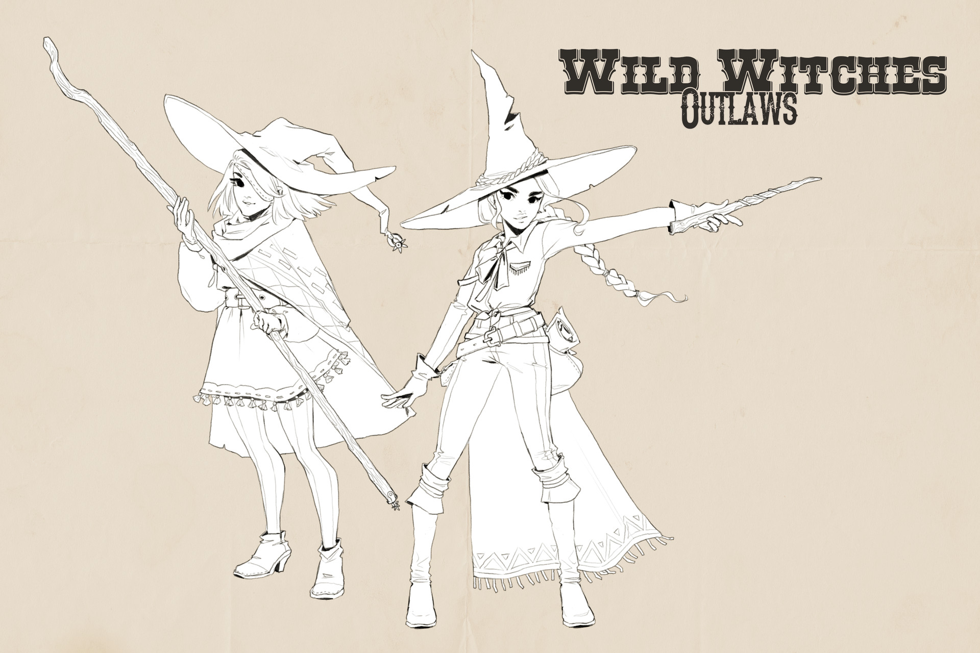 Dani kruse aswildwest outlaws lineart