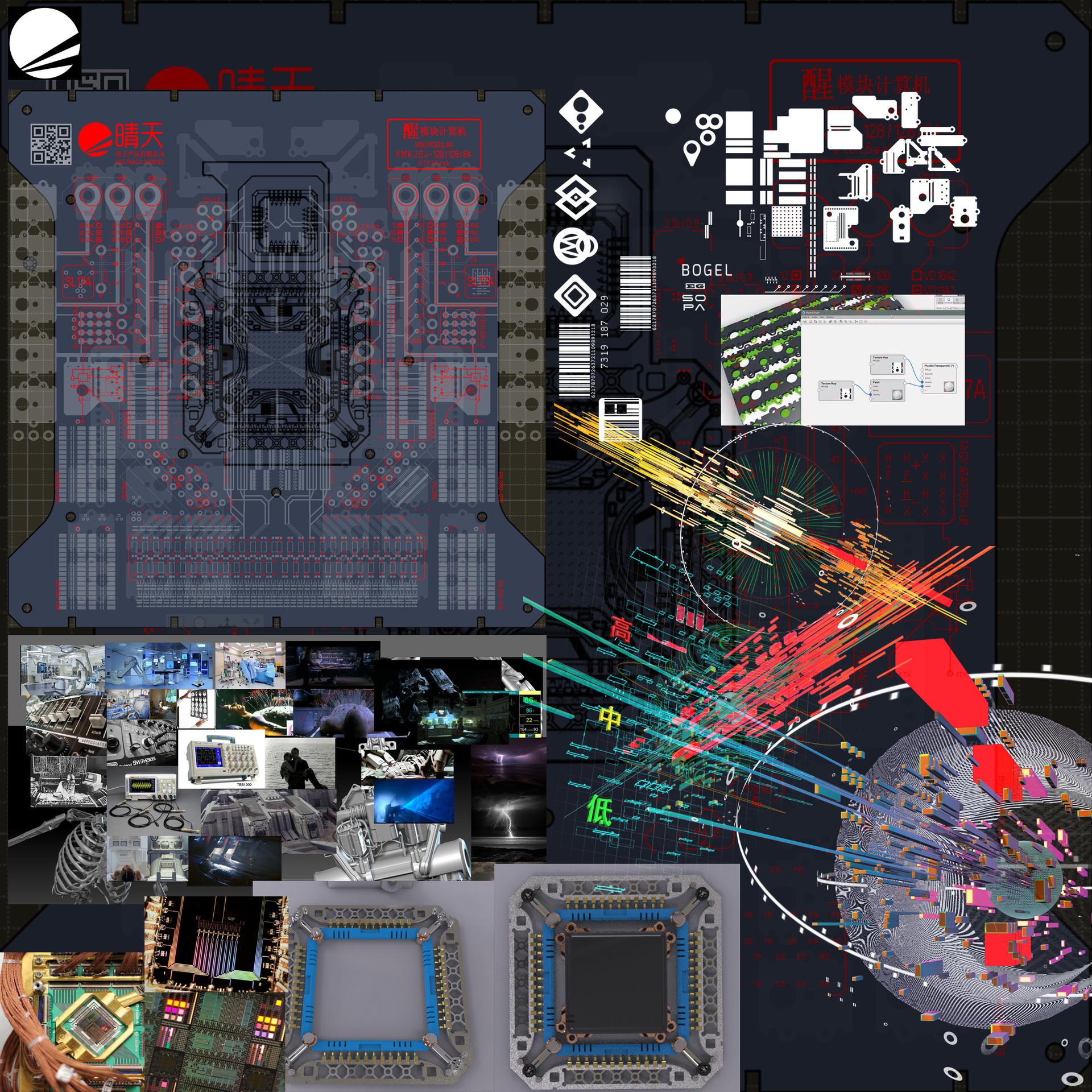 WIP and visual development sheet / 视觉设计和参考