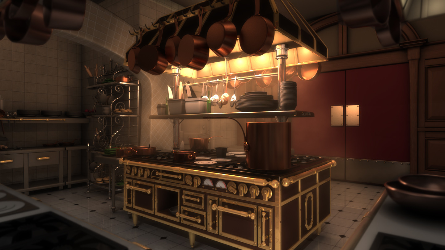 Artstation Lighting Challenge Gusteau S Kitchen