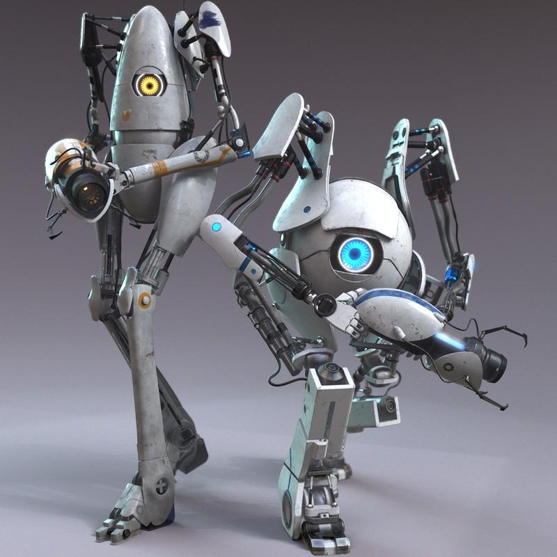 Atlas / Pbody ; Portal 2 Fanart