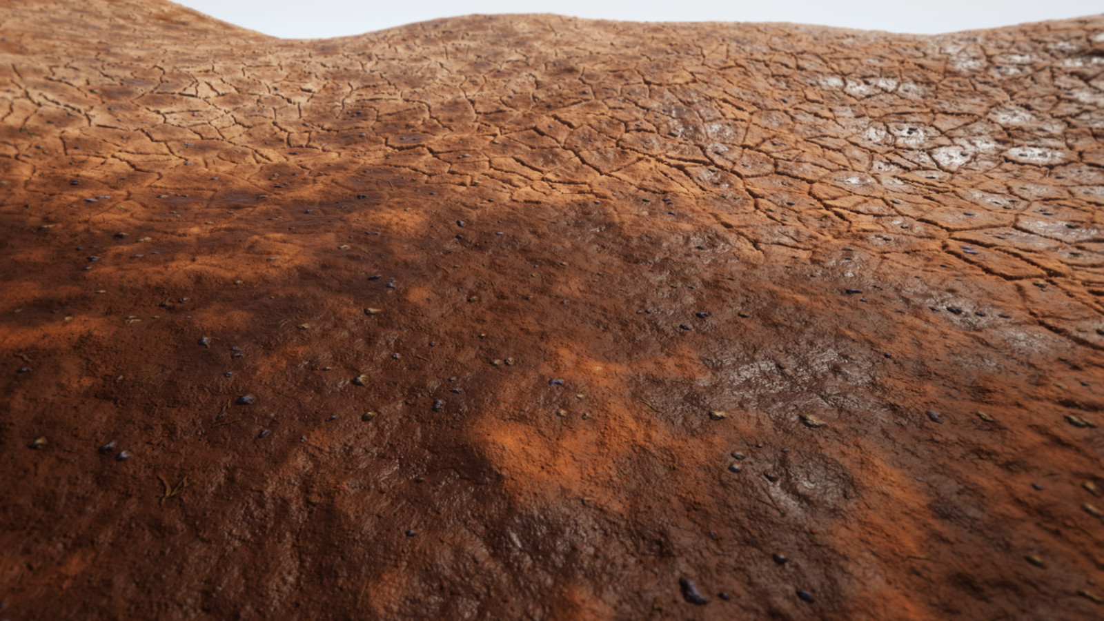 A couple shots of the textures in a landscape material in Unreal