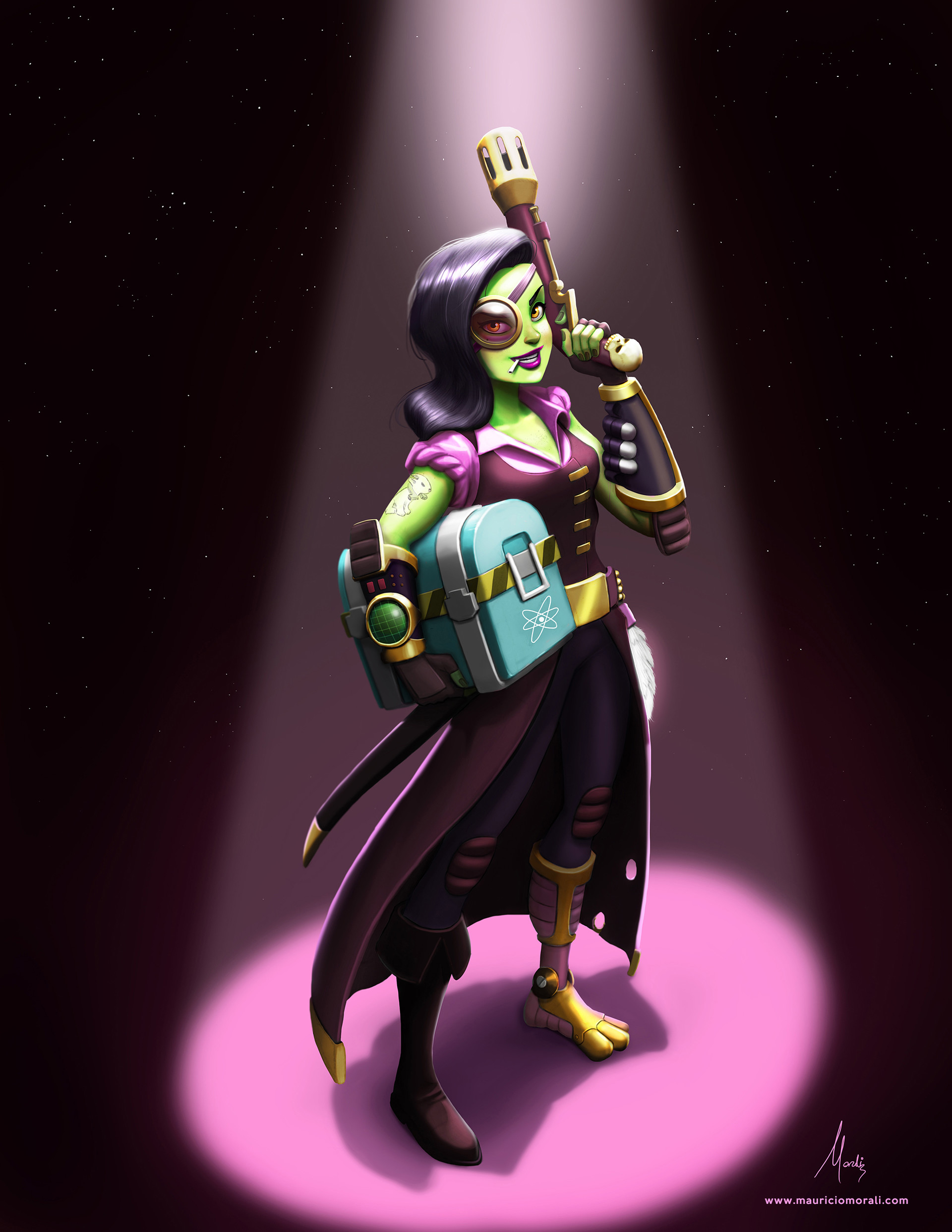 Lucky Bonnie, Space Pirate.