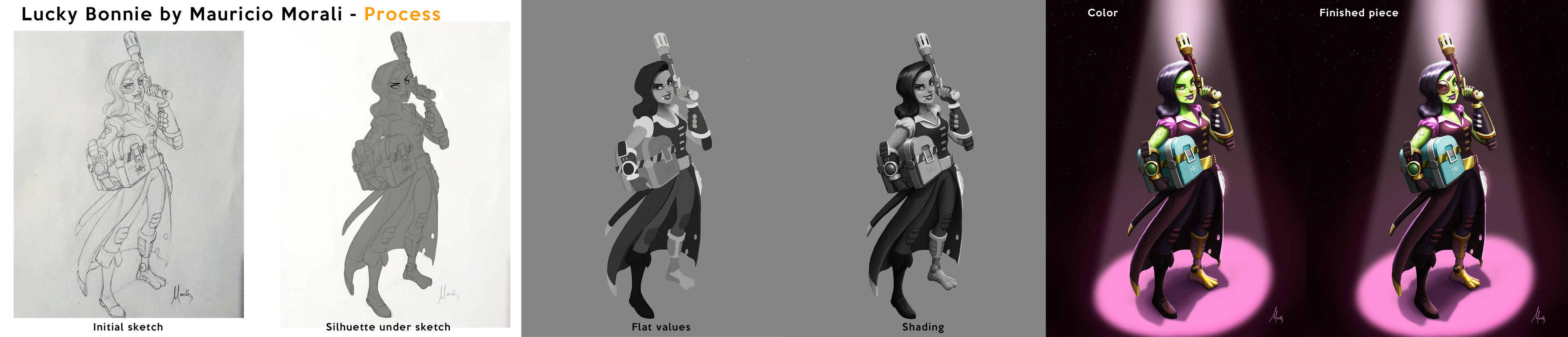 This is how I usually work, from grayscale to color.
