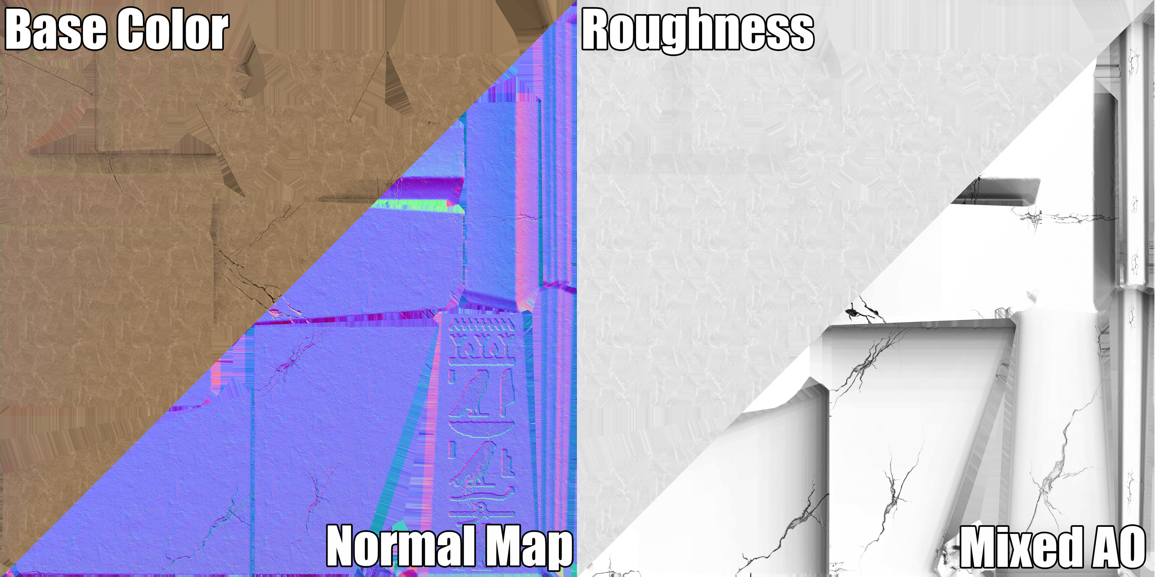 Pylon. Texture Maps Example.