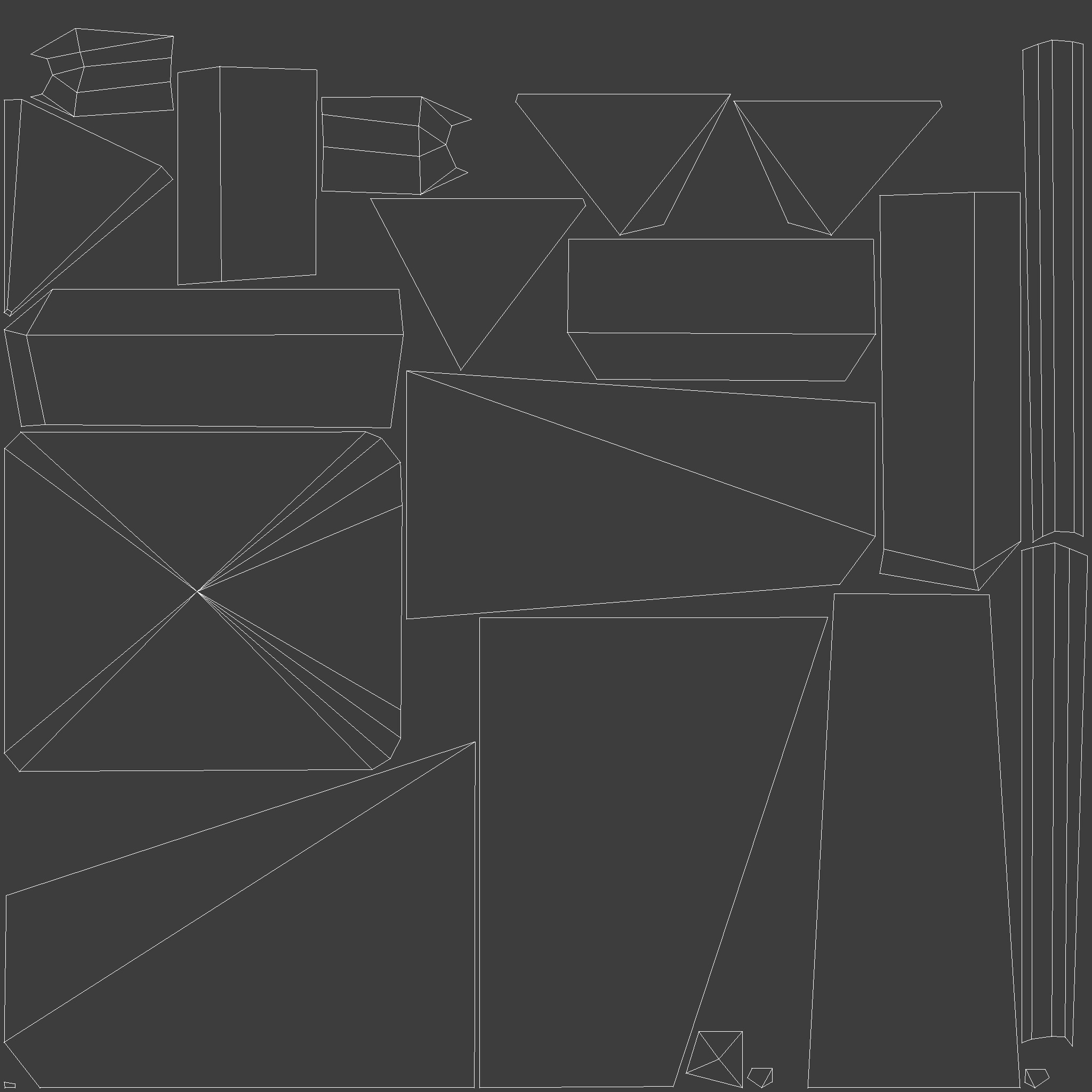 Pylon. UV Layout.