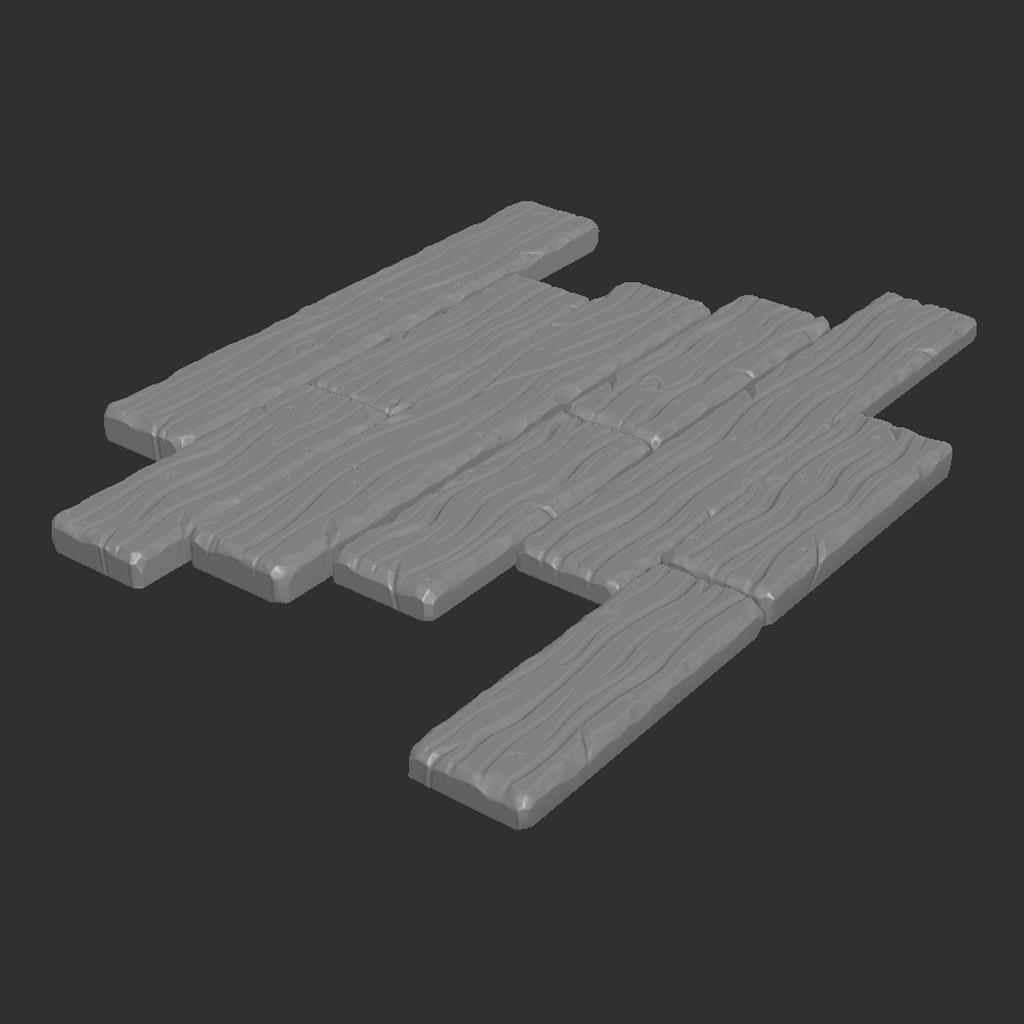 ArtStation , Stylized Wooden Planks Seamless Texture, Justin