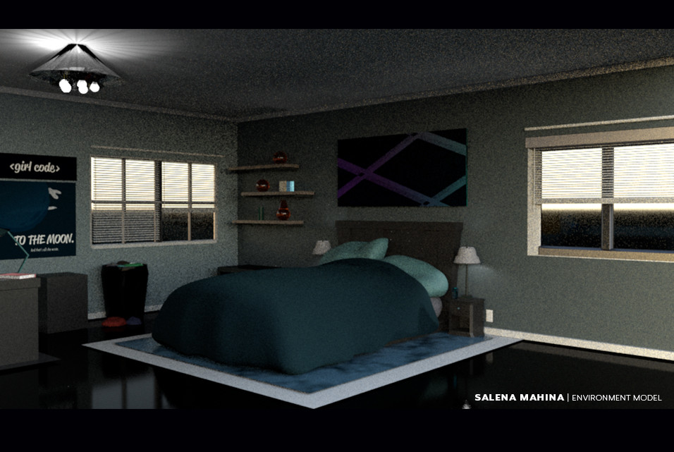Salena mahina bedroom evironment design 2