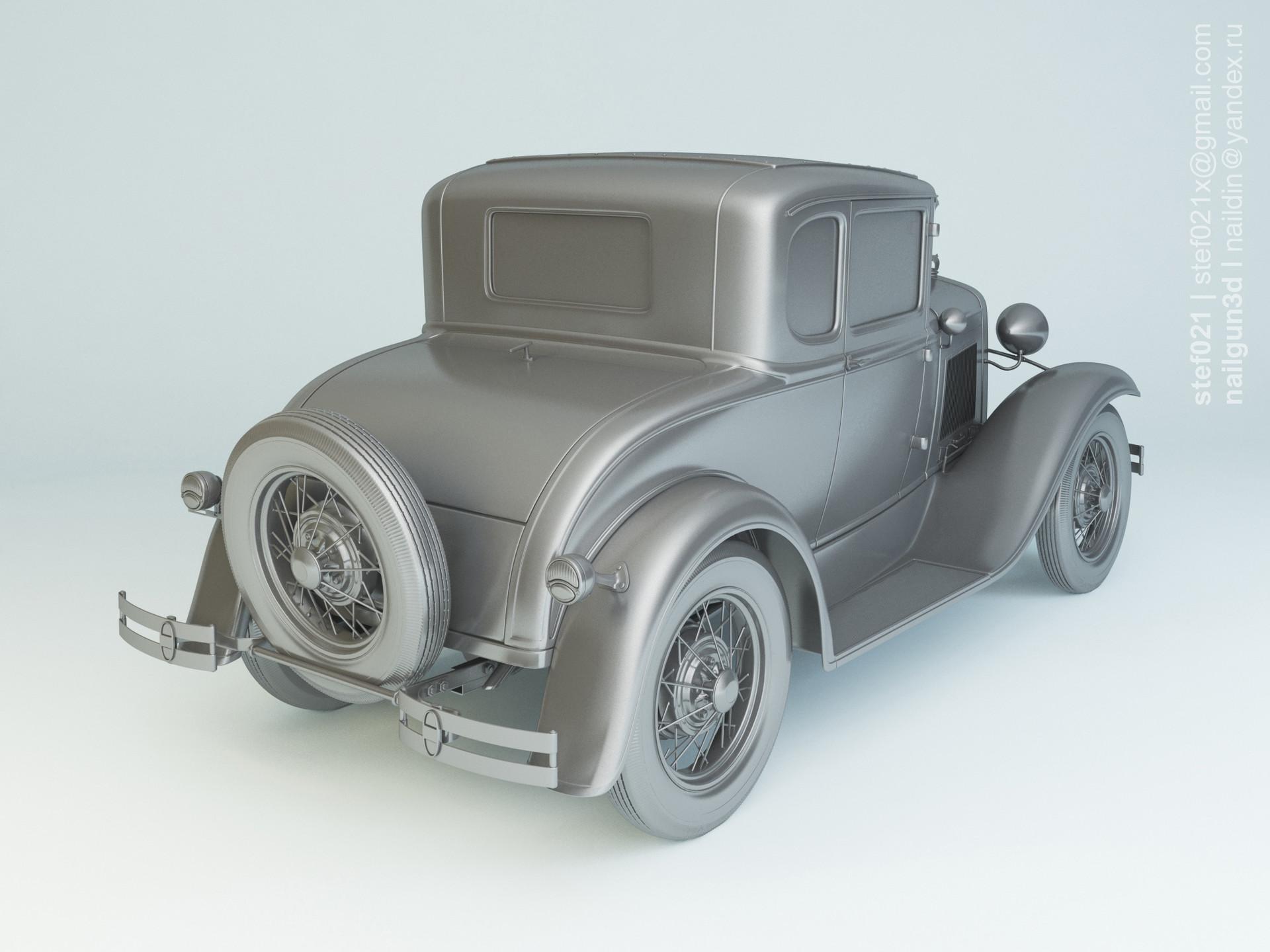 Nail khusnutdinov a0003 ford a de luxe coupe 1931 clay 0