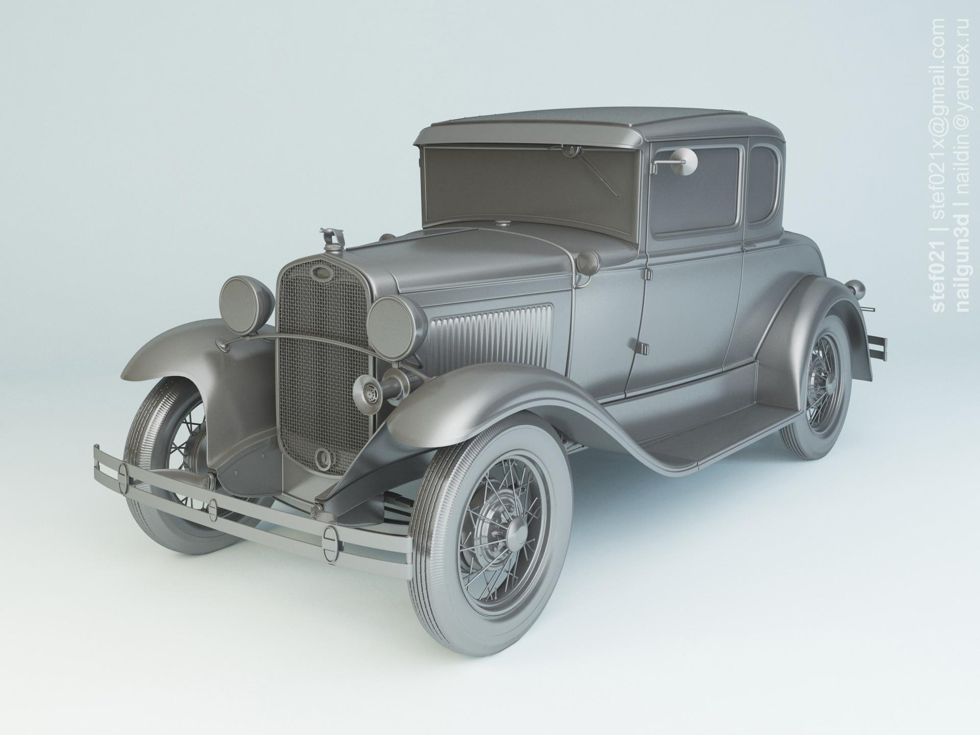 Nail khusnutdinov a0003 ford a de luxe coupe 1931 clay 1