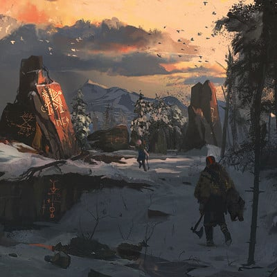 Ismail inceoglu jakt god of war fanart