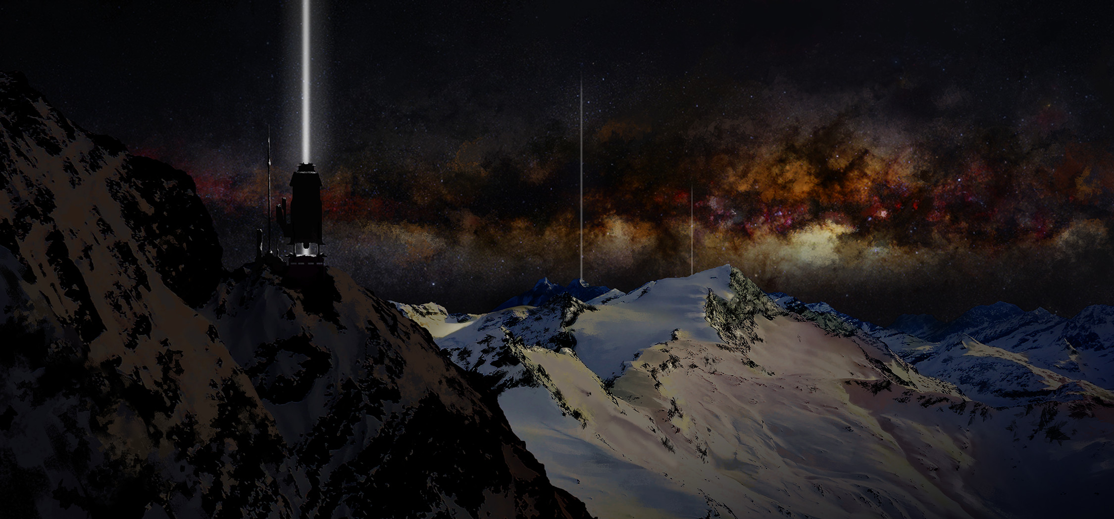 """Beacons matte painting, variant 1 15x30"""""""