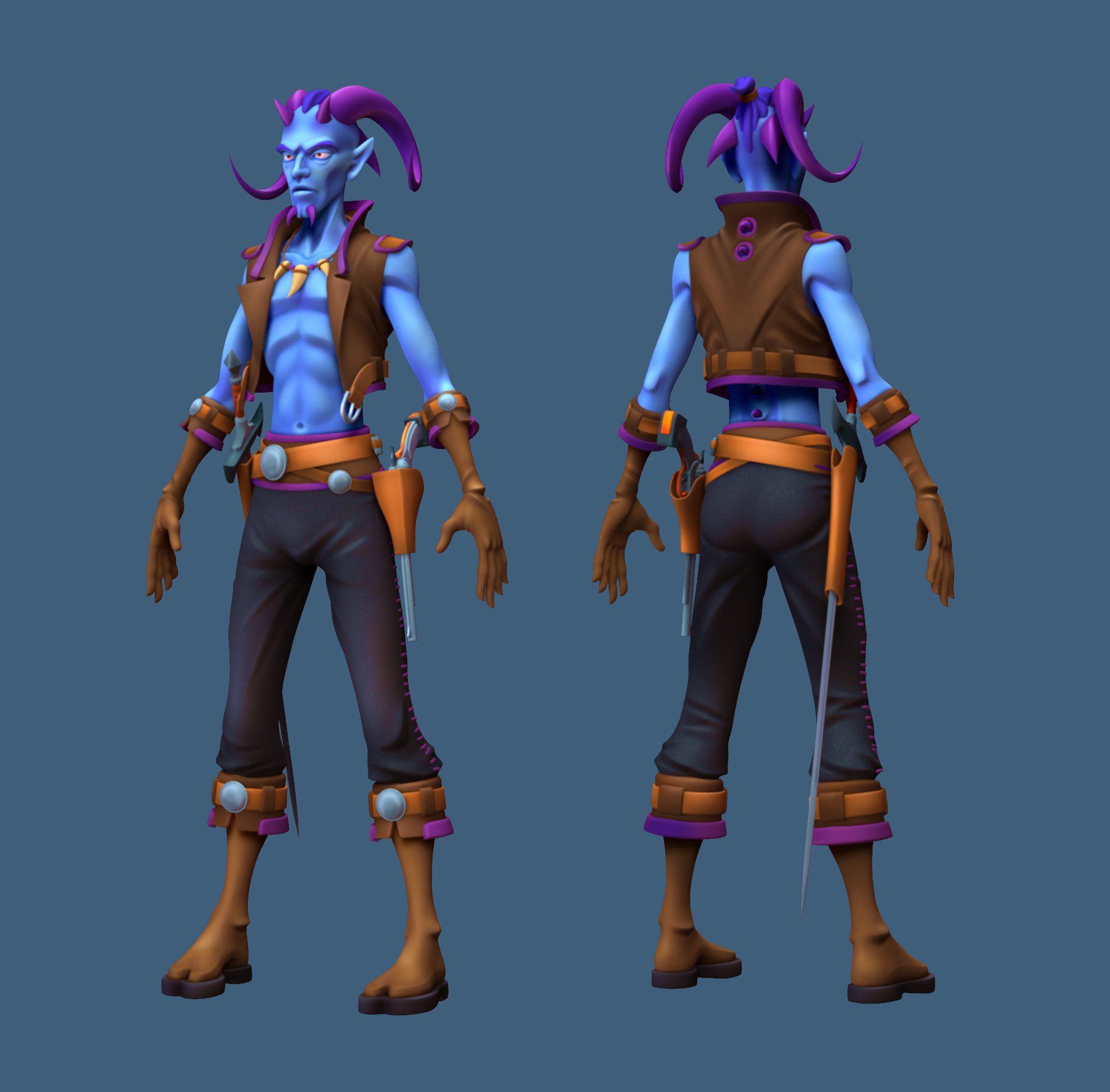 Demon Swashbuckler Front & Rear