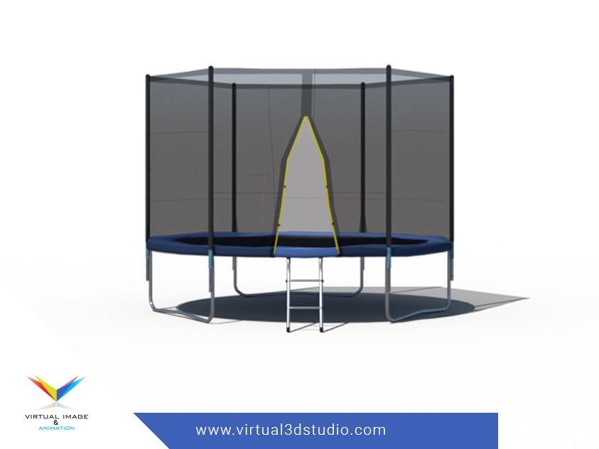 3D trampoline visualization