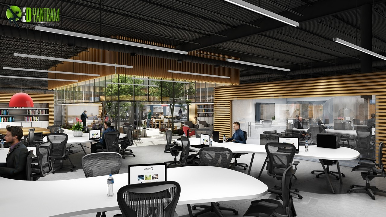 How To Design Large Office Space, Walkthrough Animation By Yantram Architectural  Design Studio