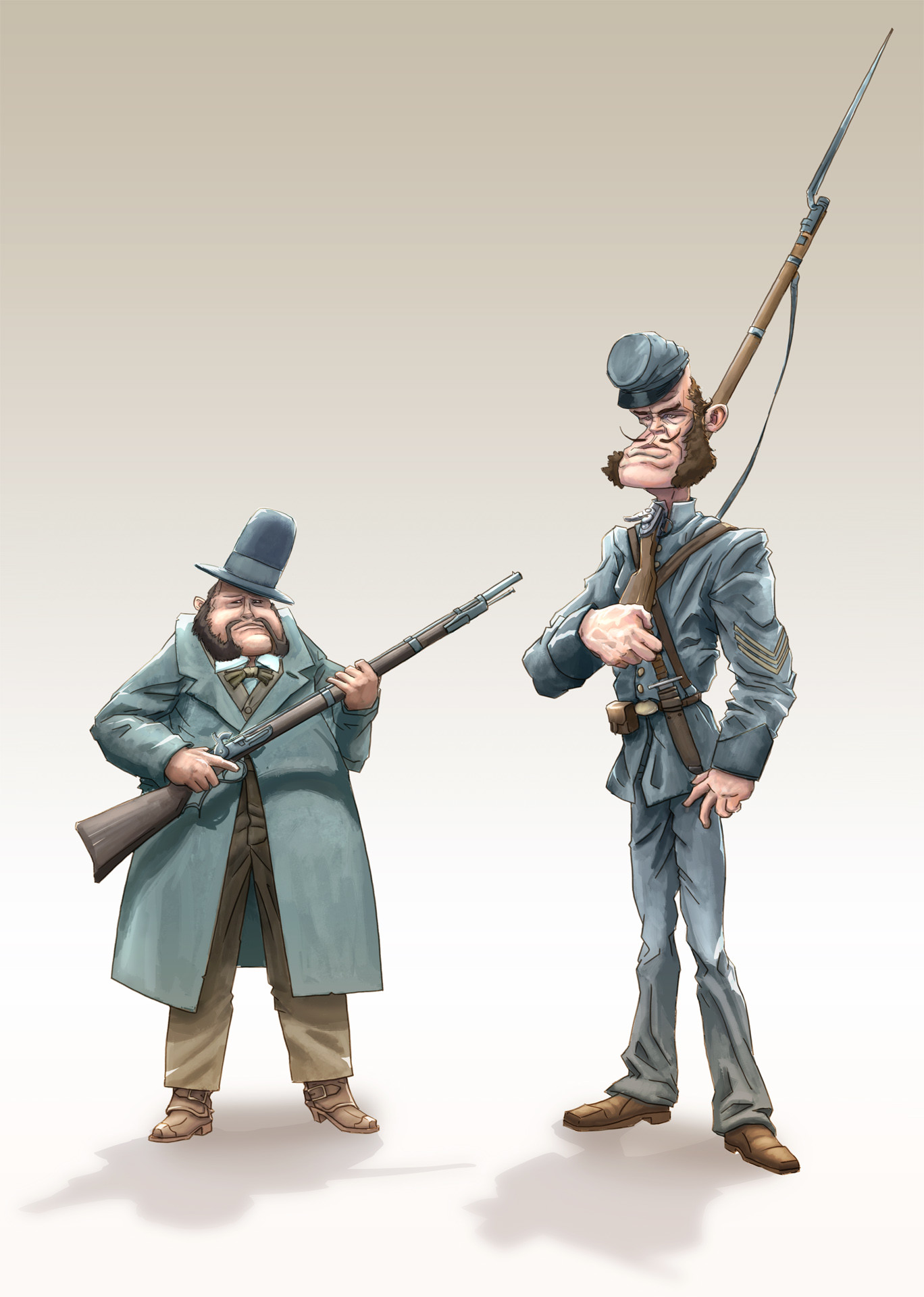 The Lawmen: Major Dingston and his adjutant Ex- Sgt. Taylor