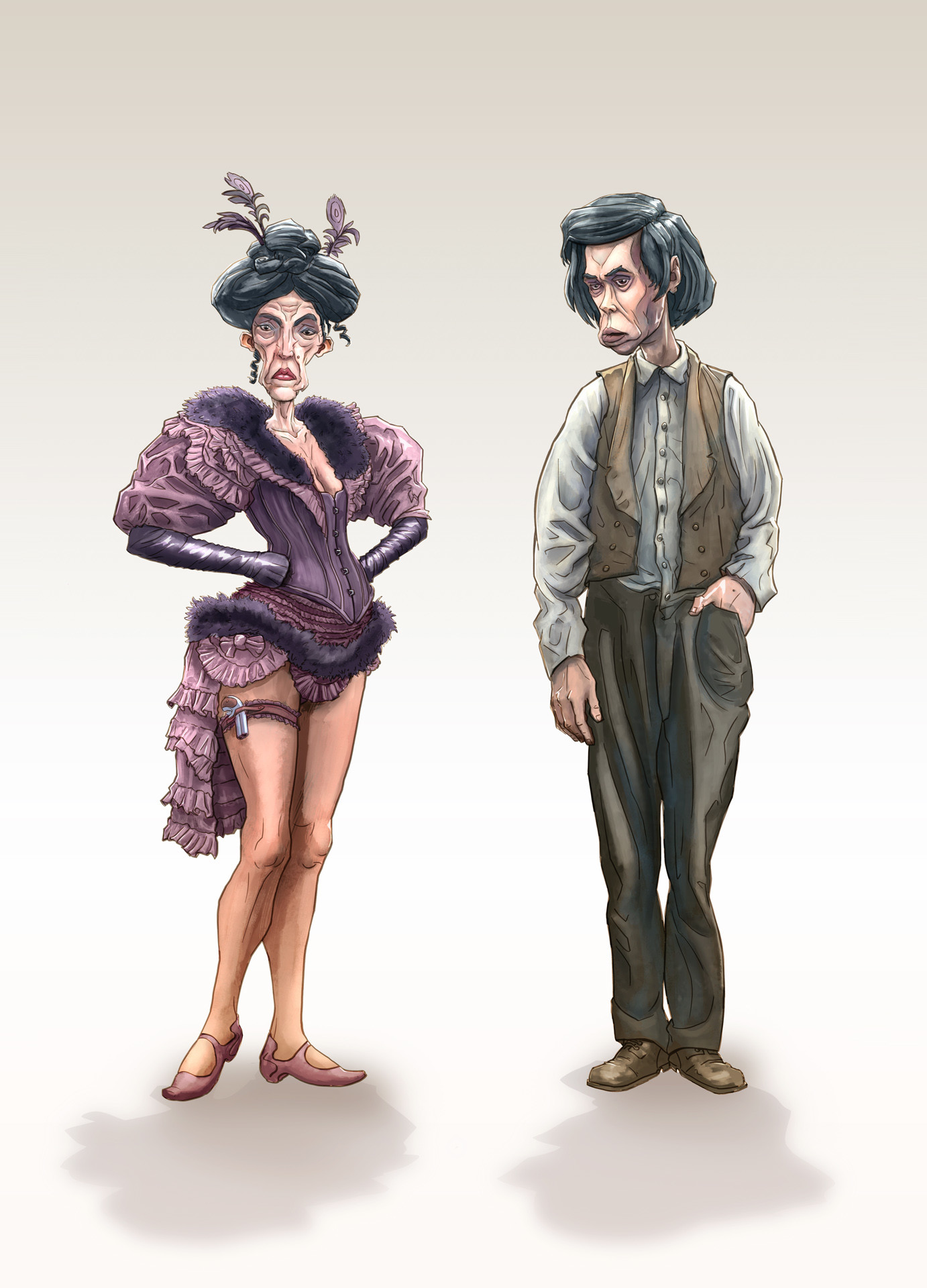 The Townpeople: Loretta Stoshki aka 'Peach' and Leo Stoshki aka 'The Drummer' (He is the Main Character)