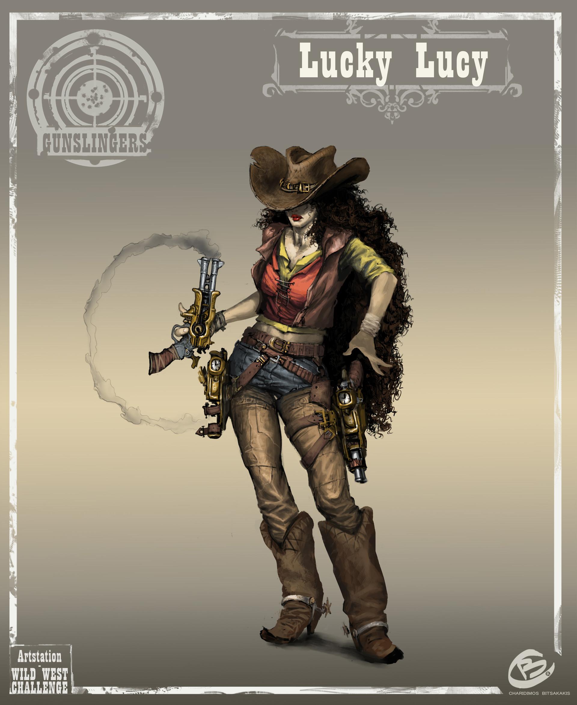 Fantasy Art Western Female Gunslinger