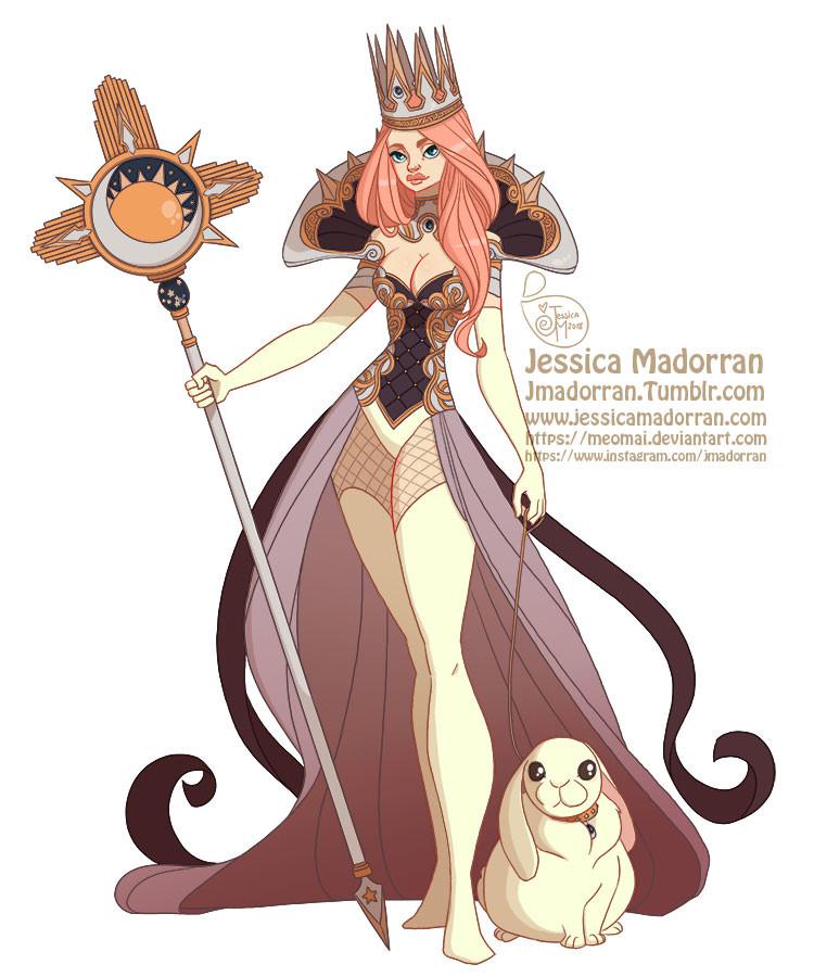 Jessica madorran character design queen bunny 2018 artstation