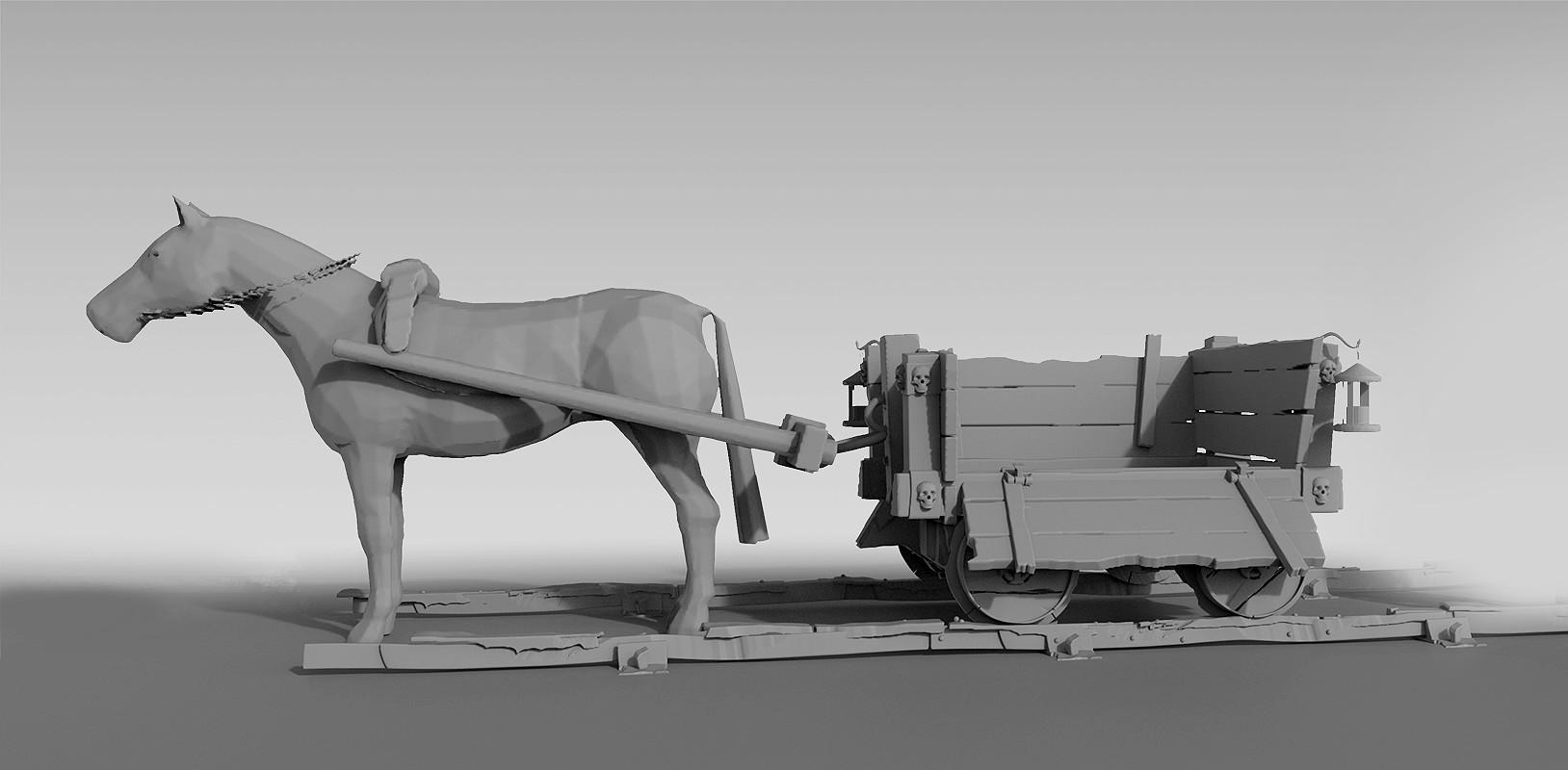 Patrik rosander mine cart horse
