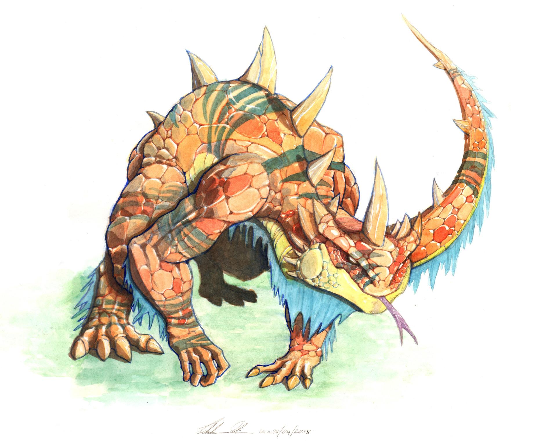 Lizard beast concept