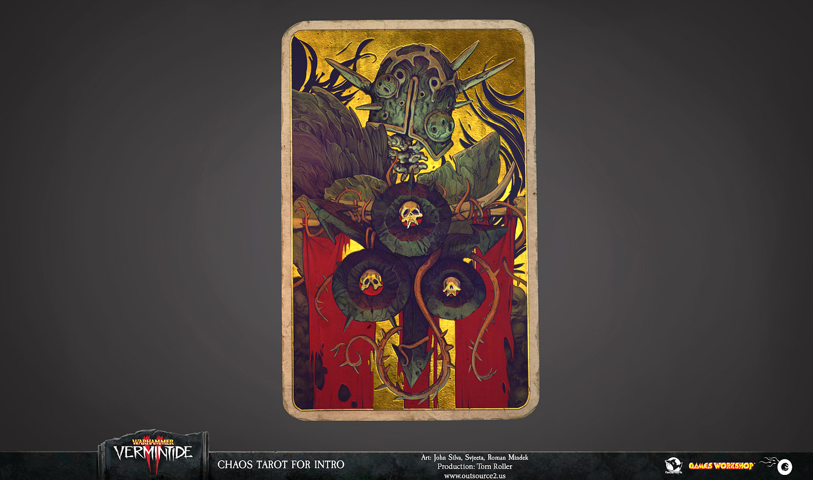 The final tarot that was used in Warhammer Vermintide II intro cut-scene.