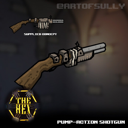 Pump-Action Shotgun (asset for 'The Hex')