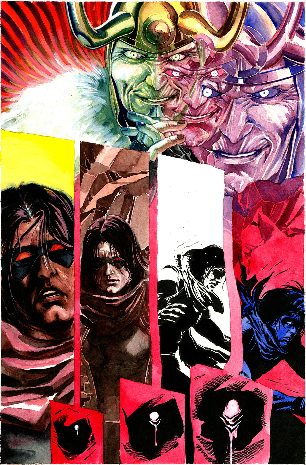 ArtStation - WInter Soldier Series - issue 2 pages - Marvel