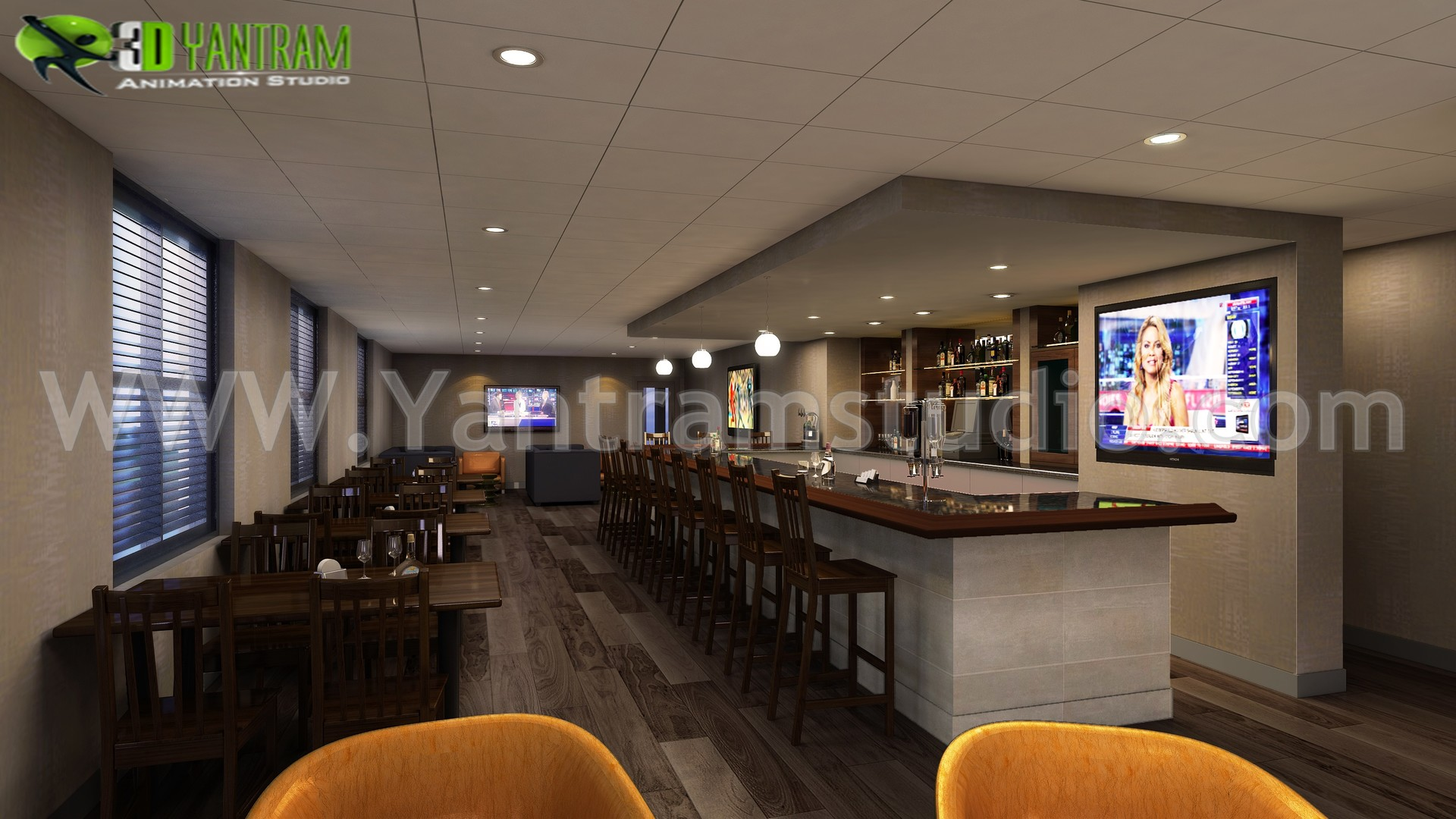 Artstation Lounge Bar Restaurant Design By Yantram 3d Interior Designers Melbourne Australia Yantram Architectural Design Studio