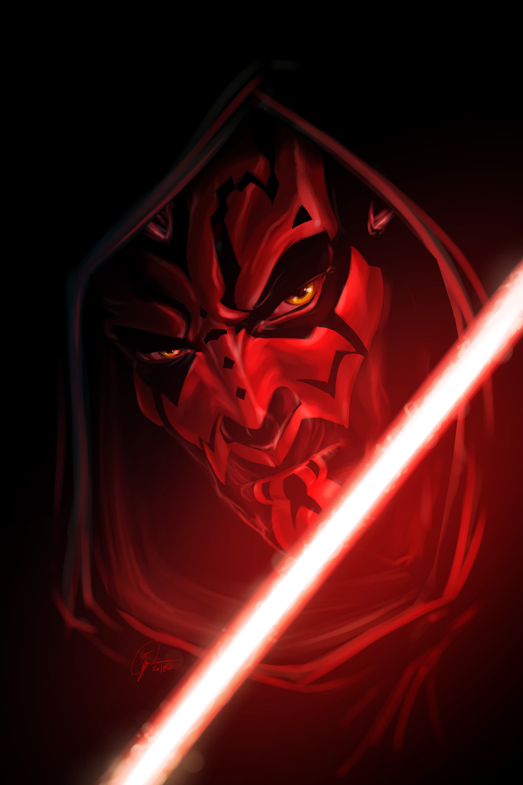 Darth Maul, for Star Wars Day (May 4th)