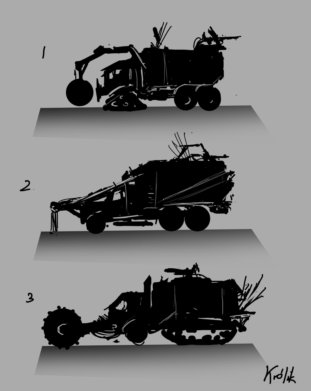 Wojciech Krlik Trash Truck Mad Max Inspiration Engine Diagram Krolik Thumbnails