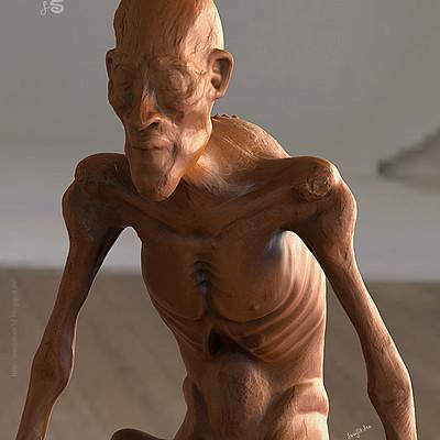 Surajit sen concept creature sculpt surajitsen