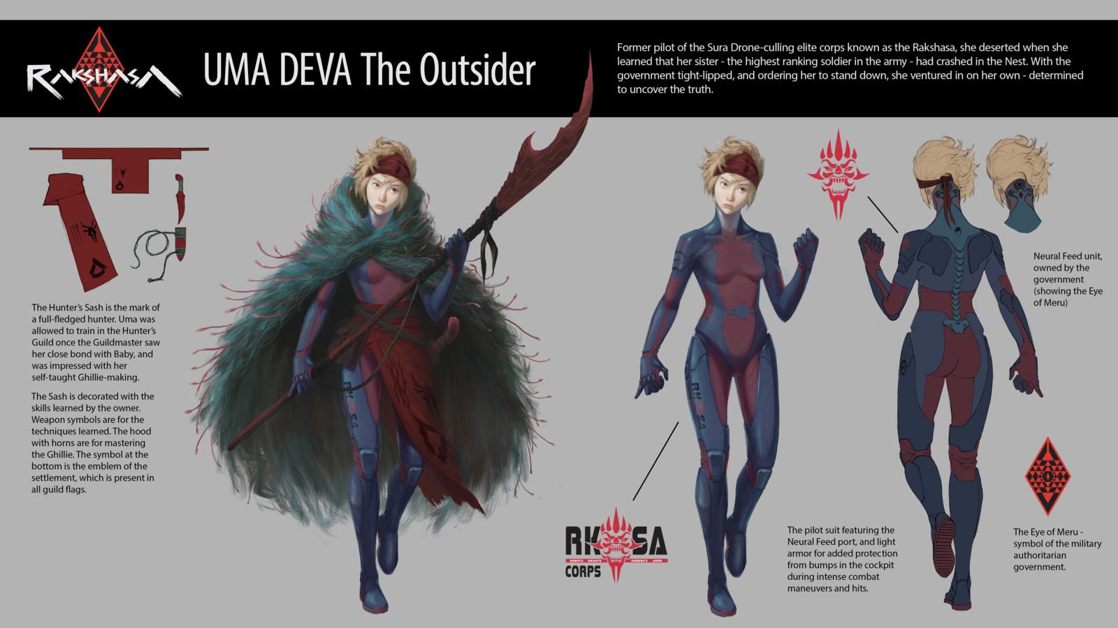 RAKSHASA: Uma Deva The Outsider + Guild Flags