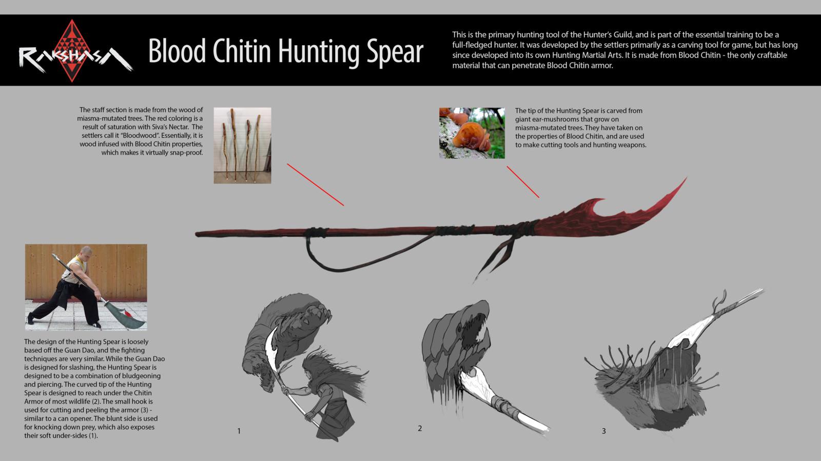 RAKSHASA: Blood Chitin Hunting Spear