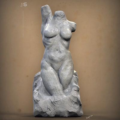 Surajit sen dynamic female anatomy sculpt study surajitsen