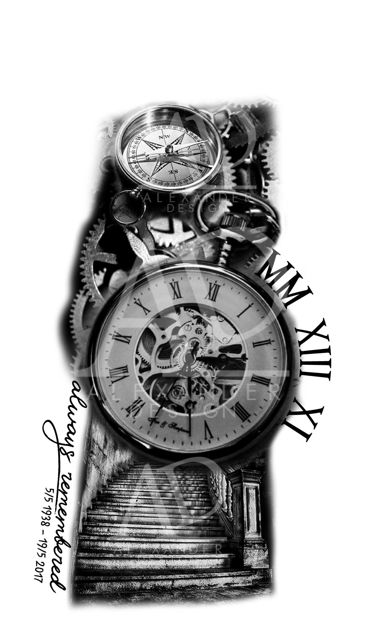 Artstation Sleeve Tattoo Design Alexander Design