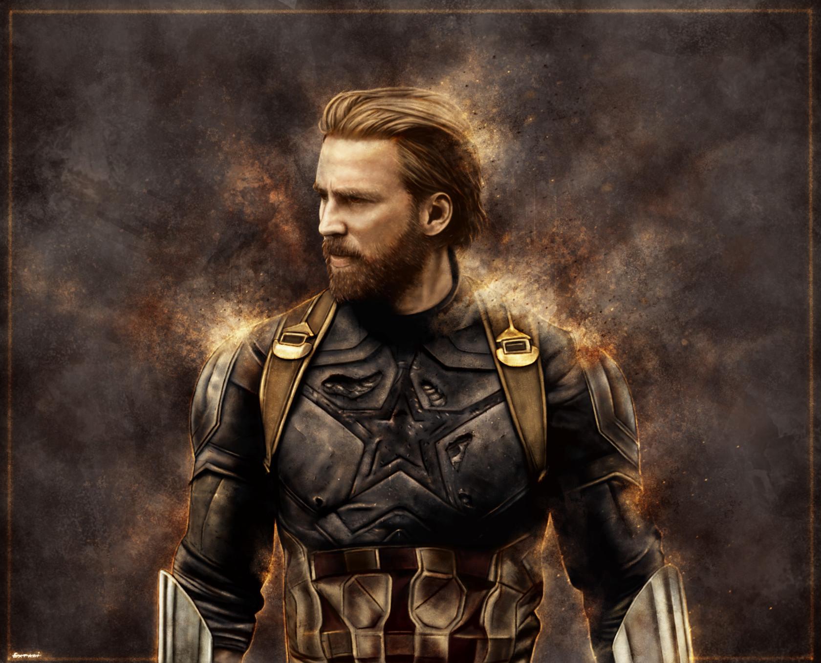 artstation - avengers: infinity war - captain america , andrey pankov