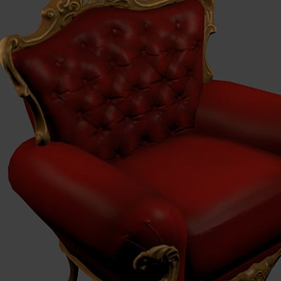 Sonia king leather chair