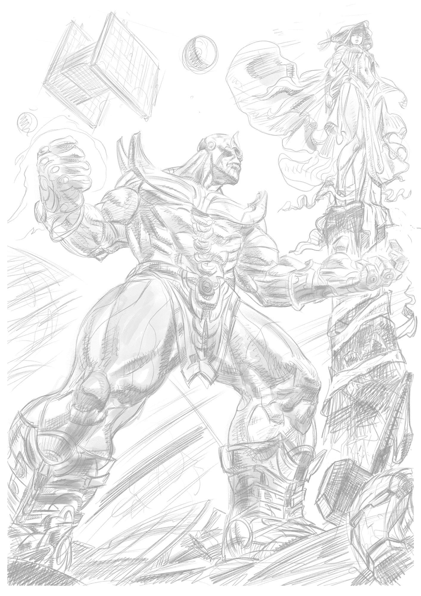 Daniele afferni daniele afferni comic artist thanos avengers infinity war pencil