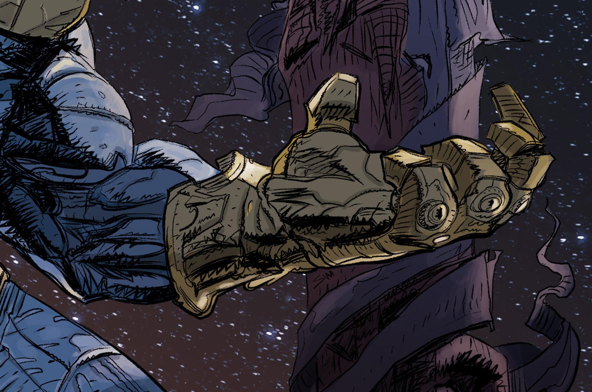 Daniele afferni daniele afferni comic artist thanos avengers infinity war close3