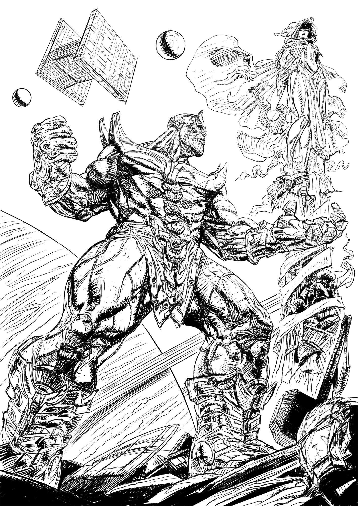 Daniele afferni daniele afferni comic artist thanos avengers infinity war ink