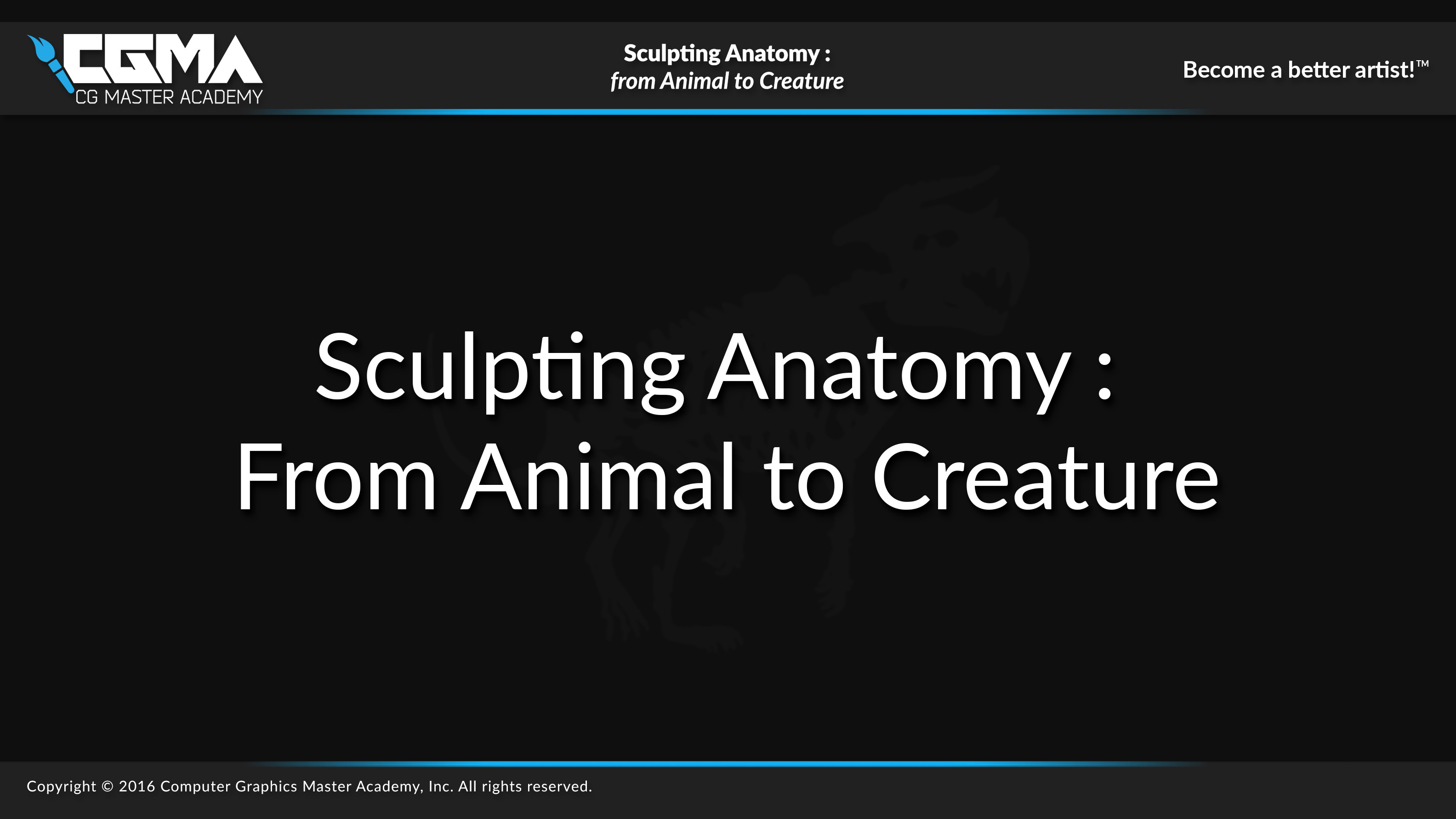 Full lecture available at CG Master Academy :