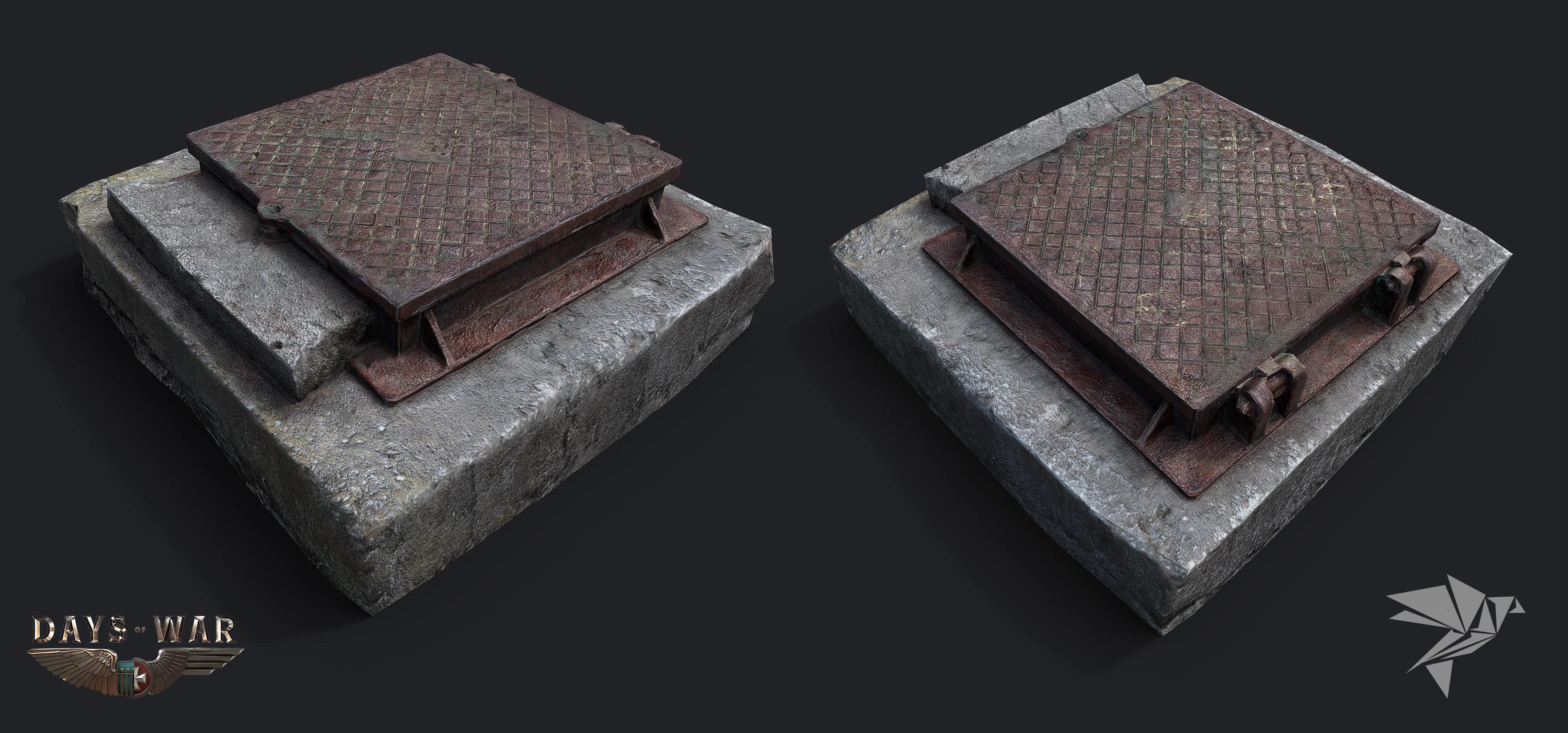 hatch (from photogrametry 3dhdscan https://sketchfab.com/models/90cdaeb807dd46efb7b481a34c396fb3)